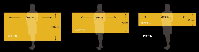 カシミヤ/パシュミナのサイズ