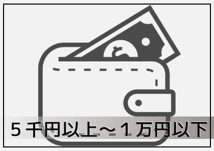 5千円~1万円以下