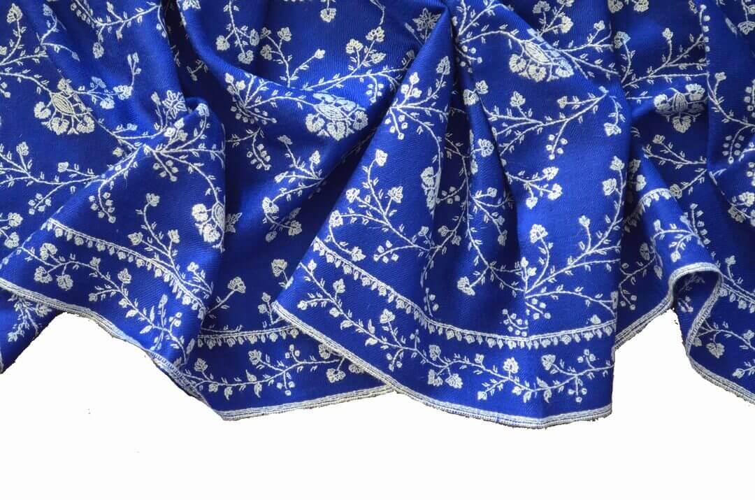 カシミール刺繍|ソズニ刺繍(sozni)ジャリ(JALI)とボーダー(border)刺繍|カシミヤ/パシュミナ