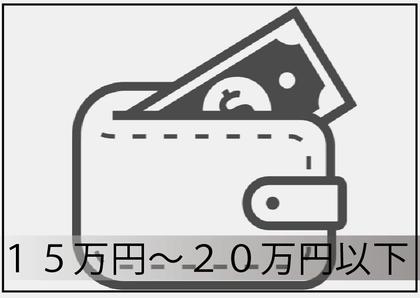 15万円以上~20万円以下
