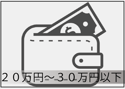 20万円以上~30万円以下