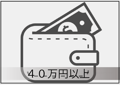 40万円以上