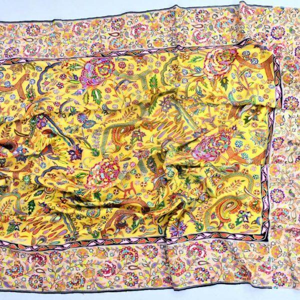 インド最古の捺染 カラムカリ|カシミヤ/パシュミナ