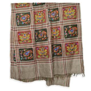 . ネイチャーカラーの #カニ織 の #カシミヤ /パシュミナ ショールです。 . このデザインは、カニ織の柄がショールの全体に施されていますので、カニ ジャマワールといいます。 ちなみにストールの両端がカニ織で織られているカニ織のデザインをカニ パルダールと呼びます。 . カシミールの今年の秋の新作です。 カシミールの象徴カエデとペイズリー柄がカニによって織られています。 . ウールのショールだと通常は首に巻くと首がもっこりしますが、カニ織は非常に柔らかいので首に巻いてもかさばらず、とてもオシャレです。 もちろん肩に羽織るには十分な大きさです。 . . カニ織は中世のヨーロッパ社交界で一斉を風靡し、今もなお世界中のカシミヤファンの心を捉えているすべて手織りの織物です。 日本の綴織(つづれおり)と織り方は似ています。 . カニ織は、自然豊かなカシミールの花や草木などをモチーフとしてデザインされています。 この日本では、アイボリーと黒、そして赤のカニ織が人気です。 . カニ織は全て #手織り のため、製作期間は長く、早くても半年 通常1〜2年、デザインによってはそれ以上かかる製品もあります。 最近は、一枚のカニ織でも分業し半年で制作することが多くなってきています。 ウェブサイト great-artisan.jp ではカシミール刺繍 を施した手織りのカシミヤやヨーロッパですでに販売している手織りのカシミヤストールなどを数多く販売しています。 ぜひウェブサイト great-artisan.jp をご覧ください。 . . . . . #greatartisan